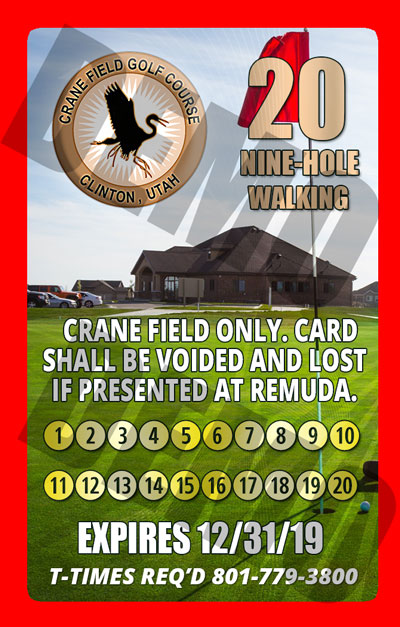 crane field golf 2 for 1