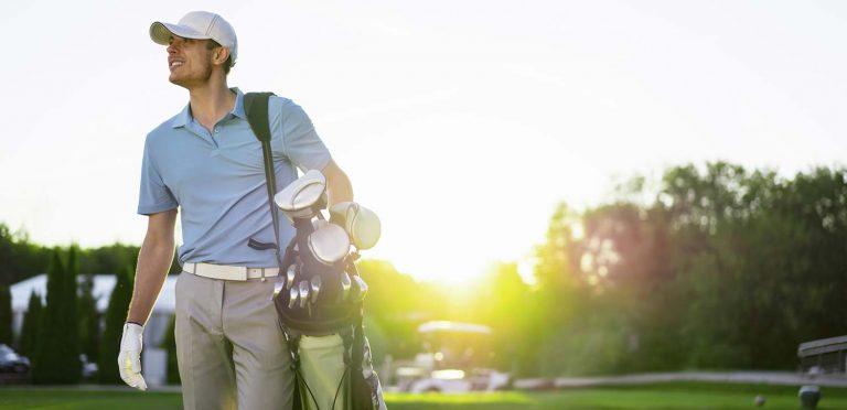 golf guy blue shirt